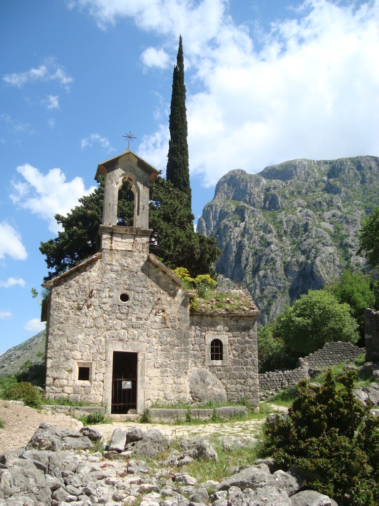 The little chapel behind the fortress, Kotor.