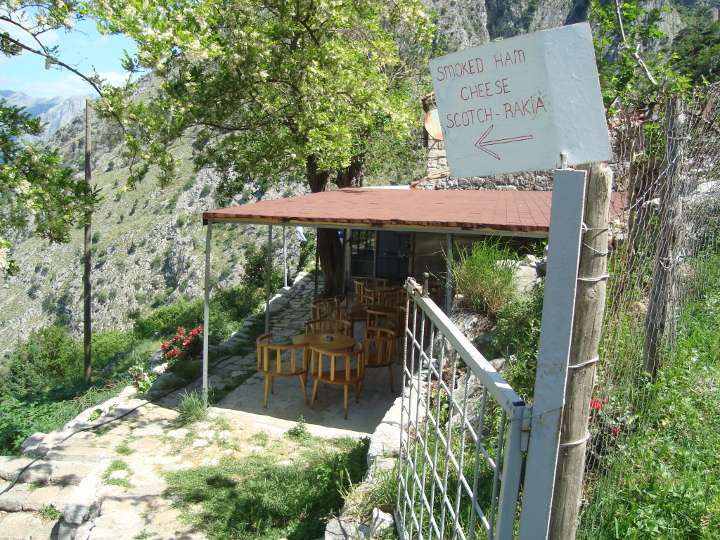 Rakija bar on the hill, Kotor