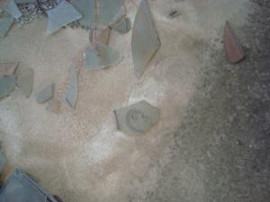 Glass art, sniper's nest, Mostar