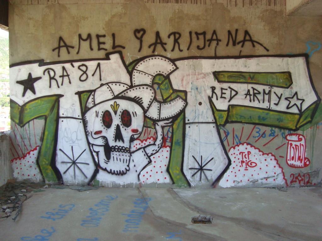 Grafiti, sniper's nest, Mostar