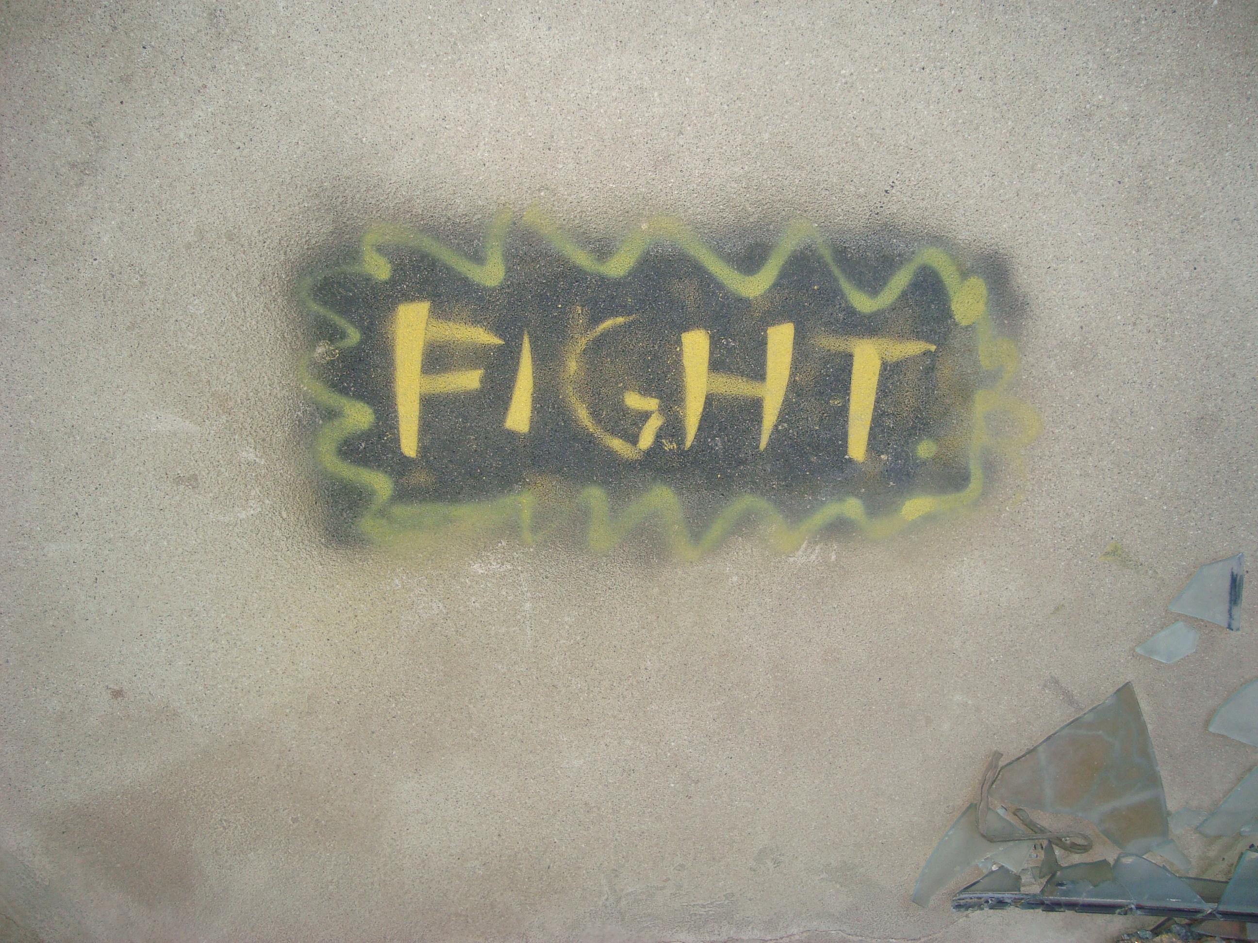Fight! Grafiti, sniper's nest, Mostar
