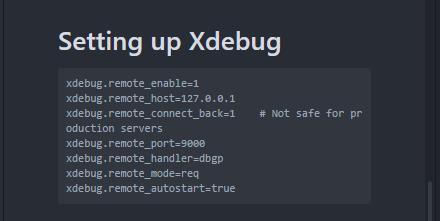 XDebug Settings